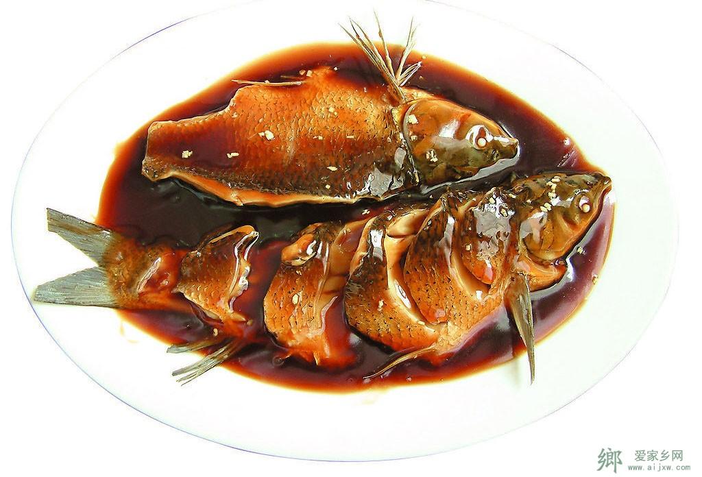 杭州传统汉族风味名菜-西湖醋鱼